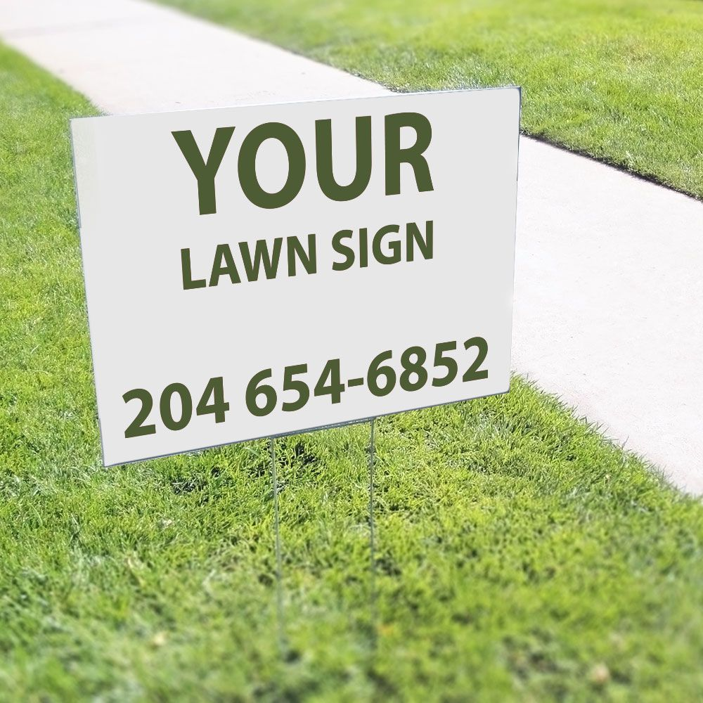 Lawn signs